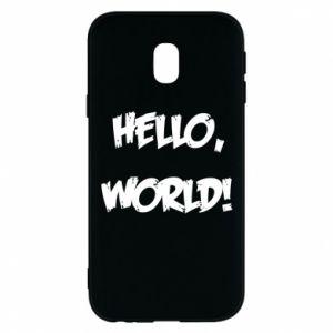 Phone case for Samsung J3 2017 Hello, world! - PrintSalon