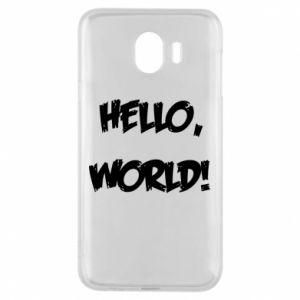 Phone case for Samsung J4 Hello, world! - PrintSalon