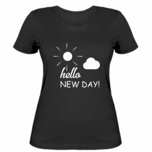 Damska koszulka Hello. New day!