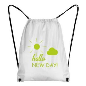 Plecak-worek Hello. New day!