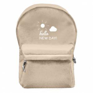 Plecak z przednią kieszenią Hello. New day!
