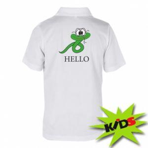 Koszulka polo dziecięca Hello