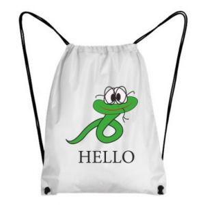 Backpack-bag Hello