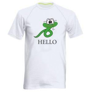 Men's sports t-shirt Hello