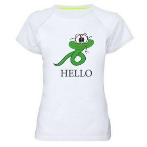 Women's sports t-shirt Hello