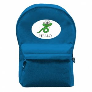 Backpack with front pocket Hello