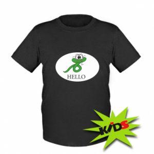 Kids T-shirt Hello