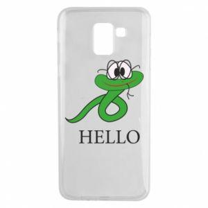 Samsung J6 Case Hello