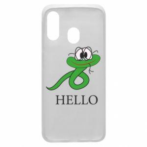 Samsung A40 Case Hello
