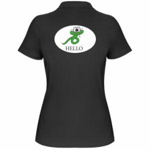 Damska koszulka polo Hello