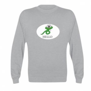 Kid's sweatshirt Hello