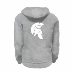 Kid's zipped hoodie % print% Helmet