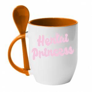 Mug with ceramic spoon Hentai princess