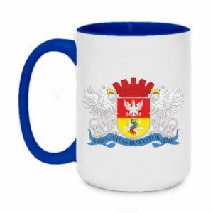 Two-toned mug 450ml Bialystok coat of arms