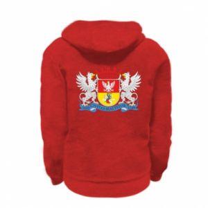 Kid's zipped hoodie % print% Bialystok coat of arms