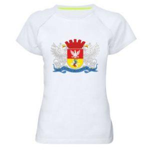 Women's sports t-shirt Bialystok coat of arms