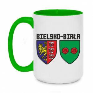 Kubek dwukolorowy 450ml Herb Bielska-Biała