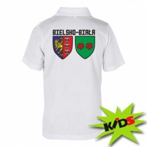 Koszulka polo dziecięca Herb Bielska-Biała