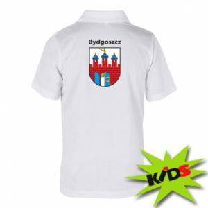 Dziecięca koszulka polo Herb Bydgoszcz