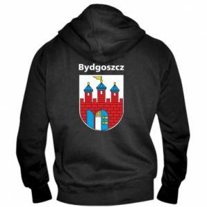 Męska bluza z kapturem na zamek Herb Bydgoszcz