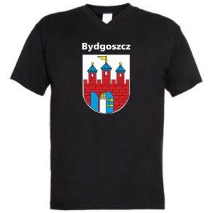 Męska koszulka V-neck Herb Bydgoszcz