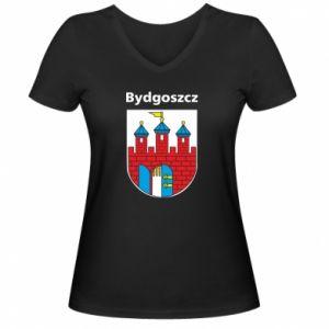Damska koszulka V-neck Herb Bydgoszcz