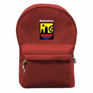 Backpack with front pocket Emblem Katowice