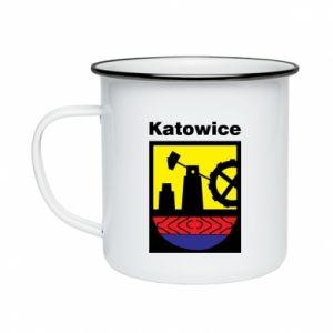 Enameled mug Emblem Katowice