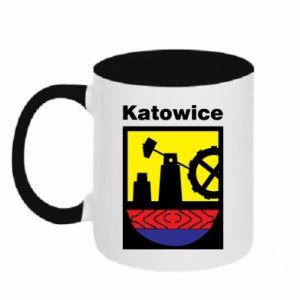 Two-toned mug Emblem Katowice