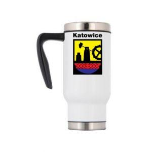 Travel mug Emblem Katowice