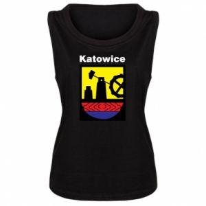 Damska koszulka bez rękawów Herb Katowice