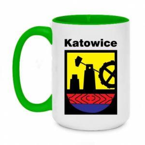 Two-toned mug 450ml Emblem Katowice