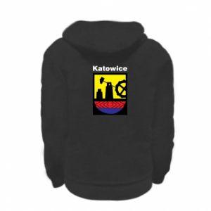 Kid's zipped hoodie % print% Emblem Katowice