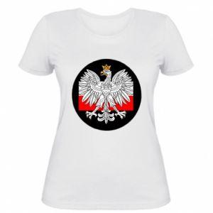 Damska koszulka Herb Polski i flaga Polski