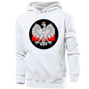 Męska bluza z kapturem Herb Polski i flaga Polski