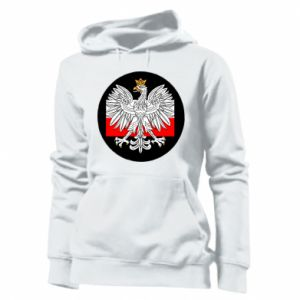 Women's hoodies Polish emblem and flag of Poland - PrintSalon