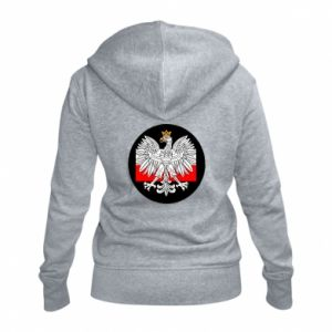 Women's zip up hoodies Polish emblem and flag of Poland - PrintSalon