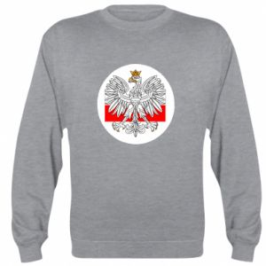 Sweatshirt Polish emblem and flag of Poland