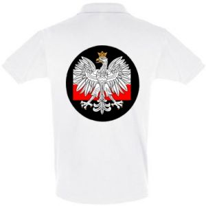 Men's Polo shirt Polish emblem and flag of Poland - PrintSalon