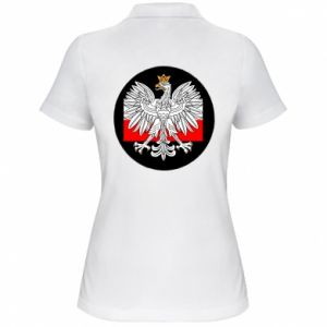 Women's Polo shirt Polish emblem and flag of Poland - PrintSalon