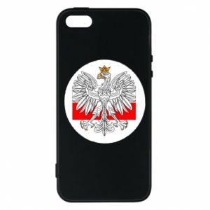 Phone case for iPhone 5/5S/SE Polish emblem and flag of Poland - PrintSalon