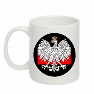 Mug 330ml Polish emblem and flag of Poland - PrintSalon