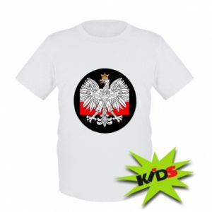 Kids T-shirt Polish emblem and flag of Poland - PrintSalon