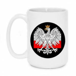Mug 450ml Polish emblem and flag of Poland - PrintSalon