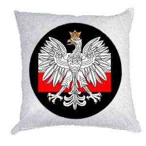 Pillow Polish emblem and flag of Poland