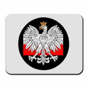 Mouse pad Polish emblem and flag of Poland - PrintSalon