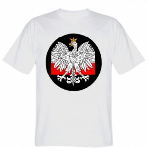 T-shirt Polish emblem and flag of Poland - PrintSalon