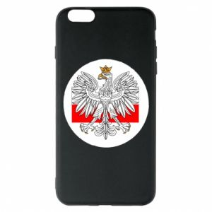 Phone case for iPhone 6 Plus/6S Plus Polish emblem and flag of Poland - PrintSalon
