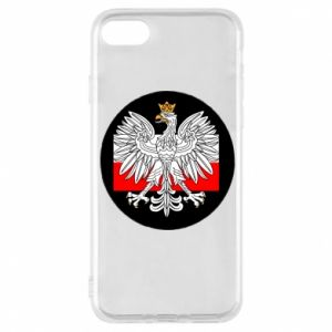 Phone case for iPhone 8 Polish emblem and flag of Poland - PrintSalon