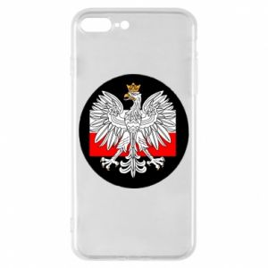 Phone case for iPhone 8 Plus Polish emblem and flag of Poland - PrintSalon